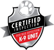 Certified Inspection Bed Bug Detection K-9 Unit Logo